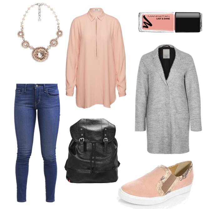 OneOutfitPerDay 2016-04-22 Casual Friday Outfit