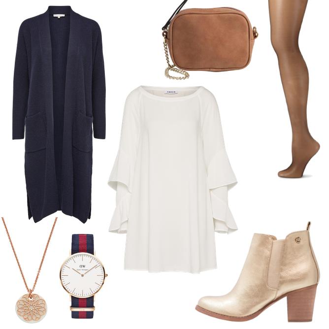 Outfit mit Bein