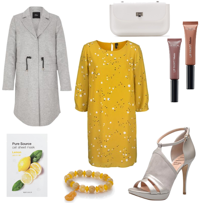 yellow schickes Outfit