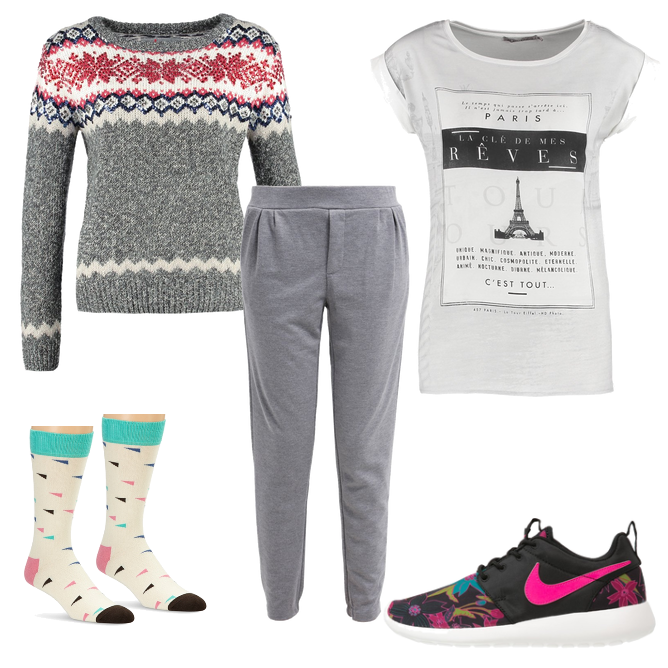 OneOutfitPerDay 2016-01-21 Outfit Jogginghosentag