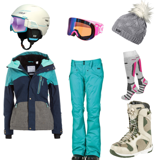 OneOutfitPerDay 2016-01-26 Snowboard Outfit 2016 Frauen