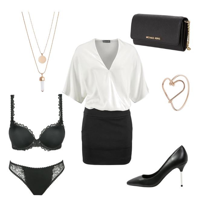 OneOutfitPerDay 2016-02-11 Black White Outfit