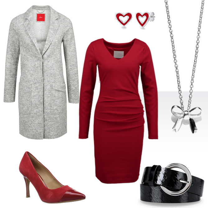 OneOutfitPerDay 2016-02-12 Valentinstag Outfit