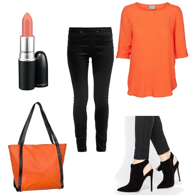 OneOutfitPerDay 2016-03-04 Outfit Orange