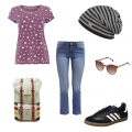 Sternenprint Sommeroutfit Wanderoutfit