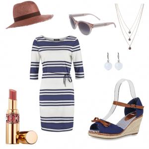OneOutfitPerDay 2016-05-15 Sommerkleid - Streifen-Look