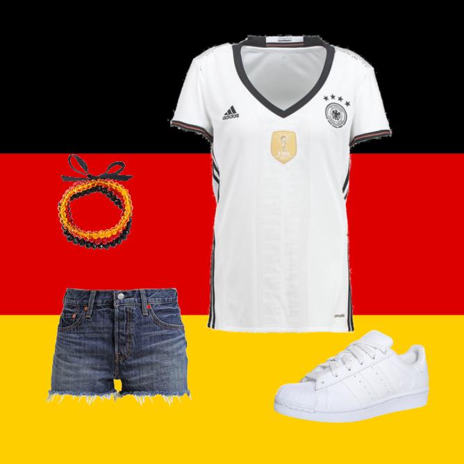 OneOutfitPerDay 2016-07-01 Deutschland Fanoutfit EM2016