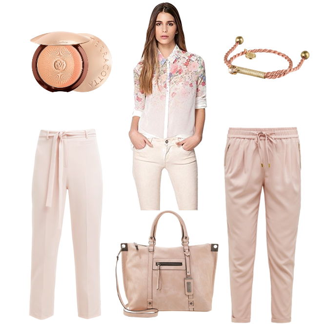 OneOutfitPerDay 2016-07-29 Nude Outfit