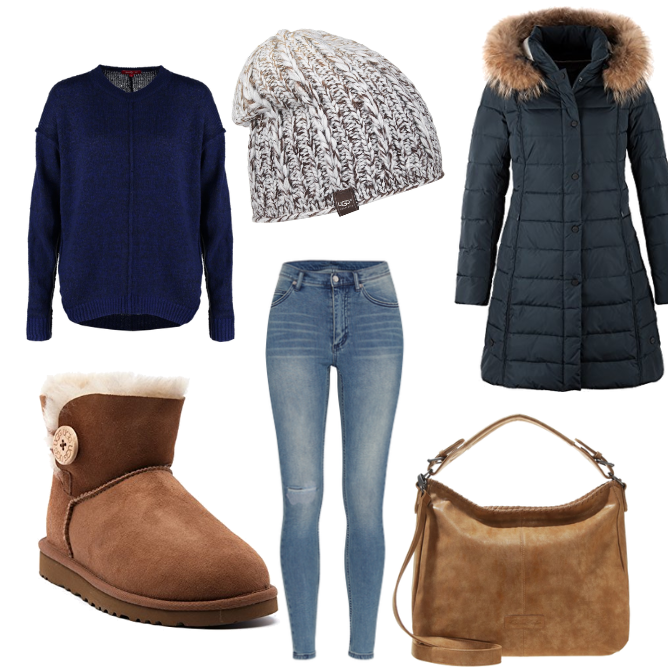 OneOutfitPerDay 2016-11-06 UGG Boot Outfit